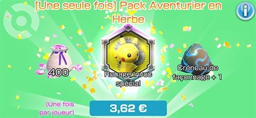 Pack Aventurier en Herbe - Boutique du jeu - Pokémon Rumble Rush