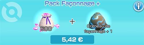 Pack Façonnage + - Boutique du jeu - Pokémon Rumble Rush