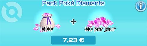 Pack Poké Diamants - Boutique du jeu - Pokémon Rumble Rush