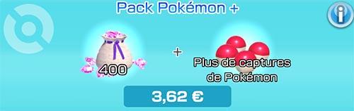 Pack Pokémon + - Boutique du jeu - Pokémon Rumble Rush