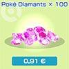Poké Diamants x100 - Boutique du jeu - Pokémon Rumble Rush