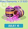 Poké Diamants x2500 - Boutique du jeu - Pokémon Rumble Rush