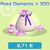 Poké Diamants x300 - Boutique du jeu - Pokémon Rumble Rush