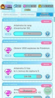 Pokémon Rumble Rush - Défis de l'aventurier