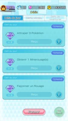 Pokémon Rumble Rush - Défis du jour
