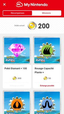 Pokémon Rumble Rush - Récompenses My Nintendo