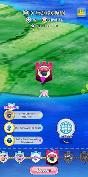Sauvegarder un niveau Pokémon Rumble Rush