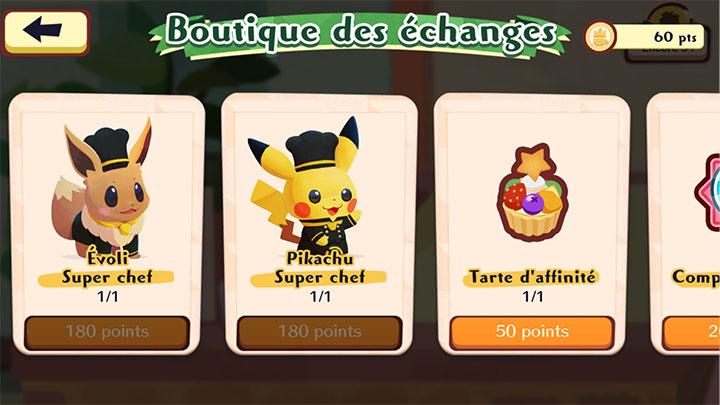 Boutique des échanges - Pokémon Café Mix