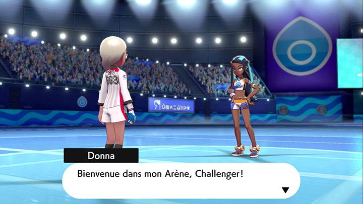Donna la Championne d'Arène Pokémon Épée et Bouclier