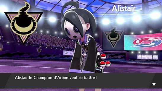 Alistair, le Champion d'Arène Pokémon Épée et Bouclier