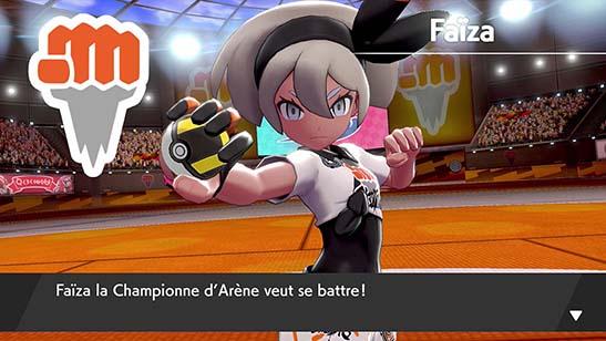 Faïza, la Championne d'Arène Pokémon Épée et Bouclier