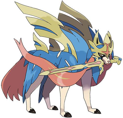Pokémon Légendaire Zacian Pokémon Épée et Pokémon Bouclier