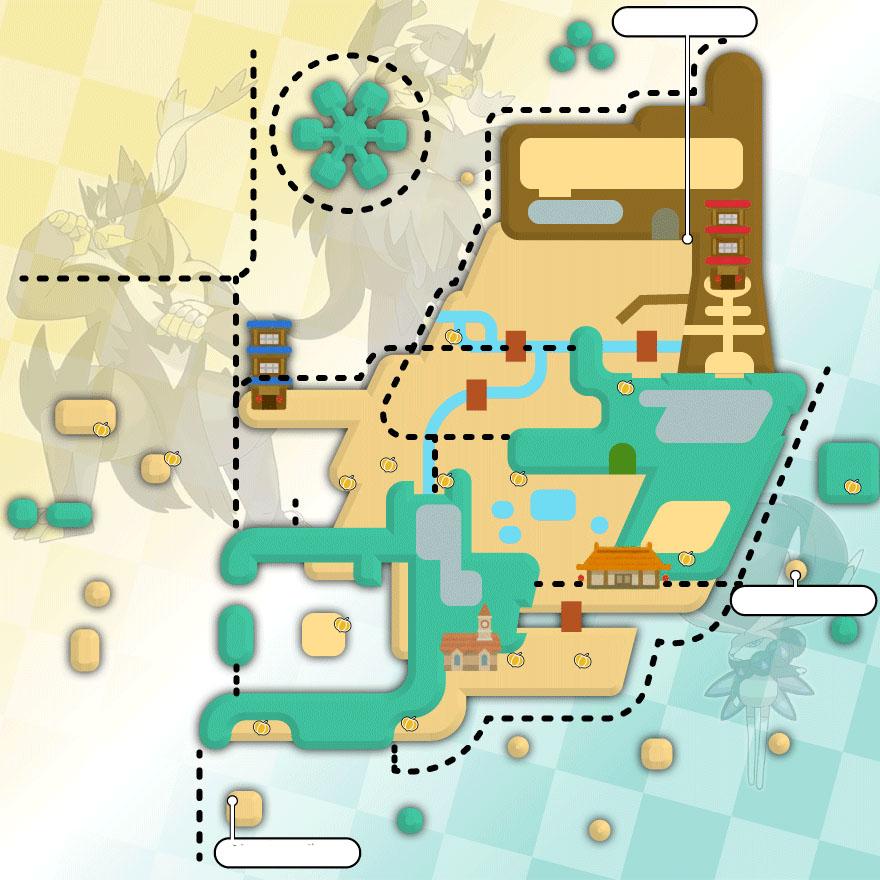 Carte des Baies à Isolarmure Pokémon Épée et Bouclier