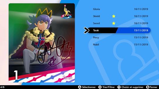 Carte Ligue Pokémon Épée et Pokémon Bouclier