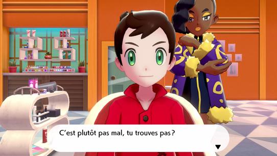 Coiffeur Personnalisation Héros Pokémon Épée et Pokémon Bouclier