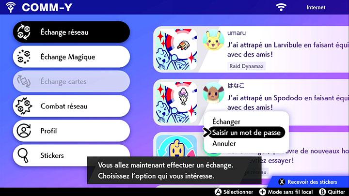 Échange Magique Pokémon Épée et Pokémon Bouclier