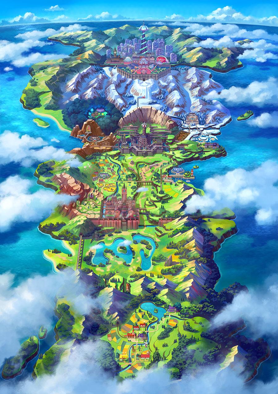 Région de Galar Pokémon Épée et Pokémon Bouclier