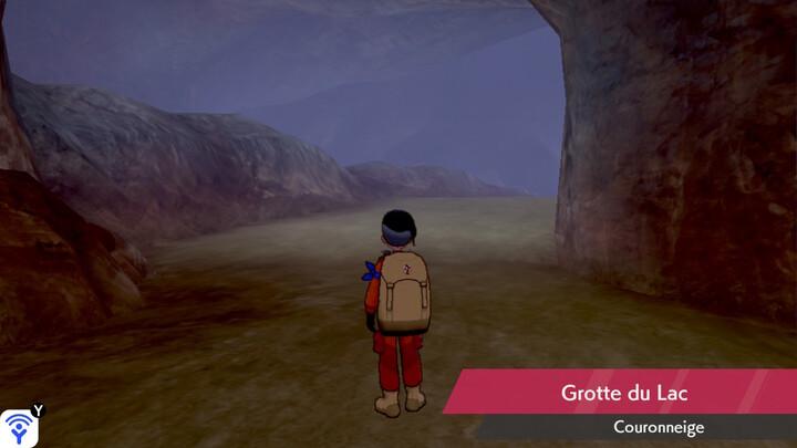 Grotte du Lac Couronneige Pokémon Épée et Bouclier