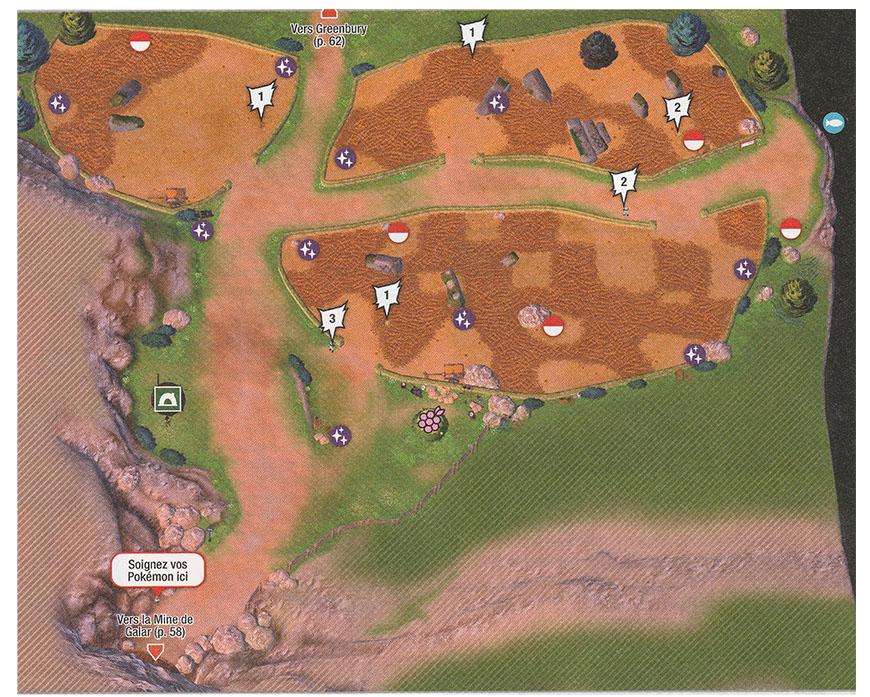 Carte - Route 4 Pokémon Épée et Bouclier