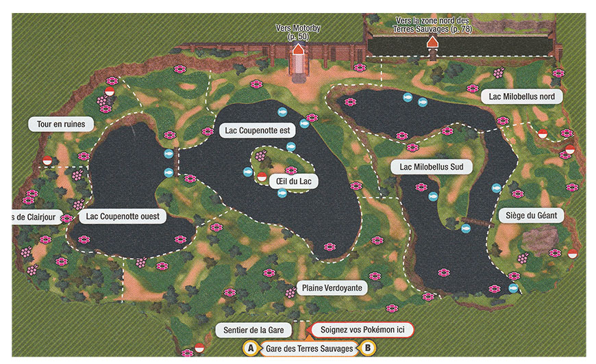 Carte - Lac Coupenotte Ouest Pokémon Épée et Bouclier