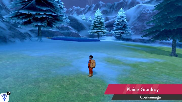 Plaine Granfroy Couronneige Pokémon Épée et Bouclier