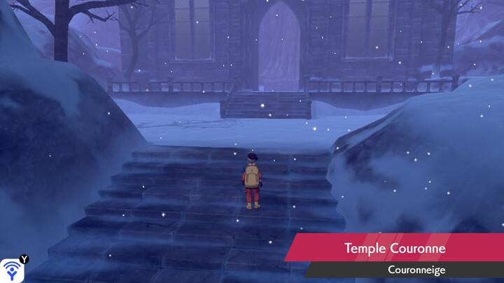 Temple Couronne Couronneige Pokémon Épée et Bouclier