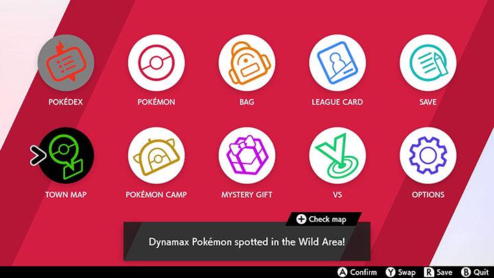 Sac et interface Pokémon Épée et Bouclier