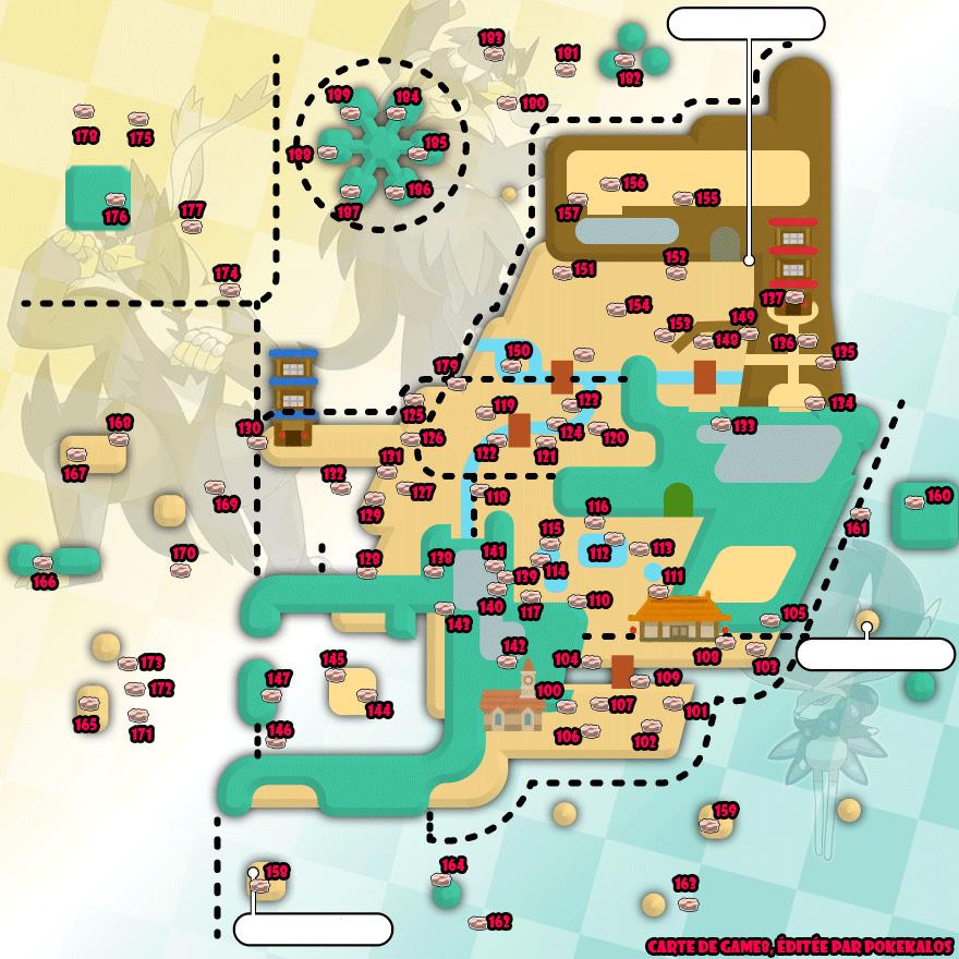 Carte de toutes les Antres Dynamax d'Isolarmure de Pokémon Épée et Bouclier