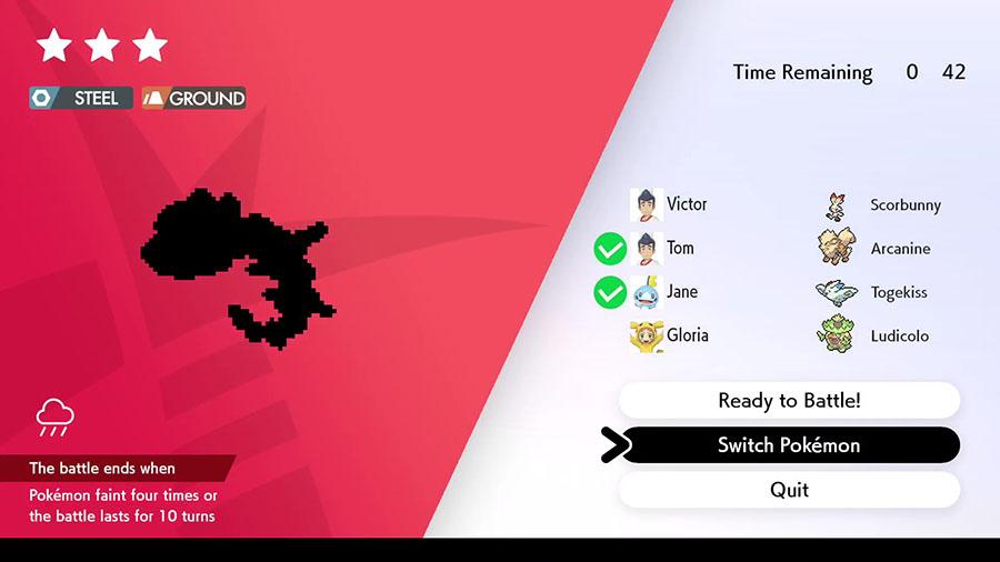Pokémon disponibles via les Raids Dynamax Pokémon Épée et Pokémon Bouclier