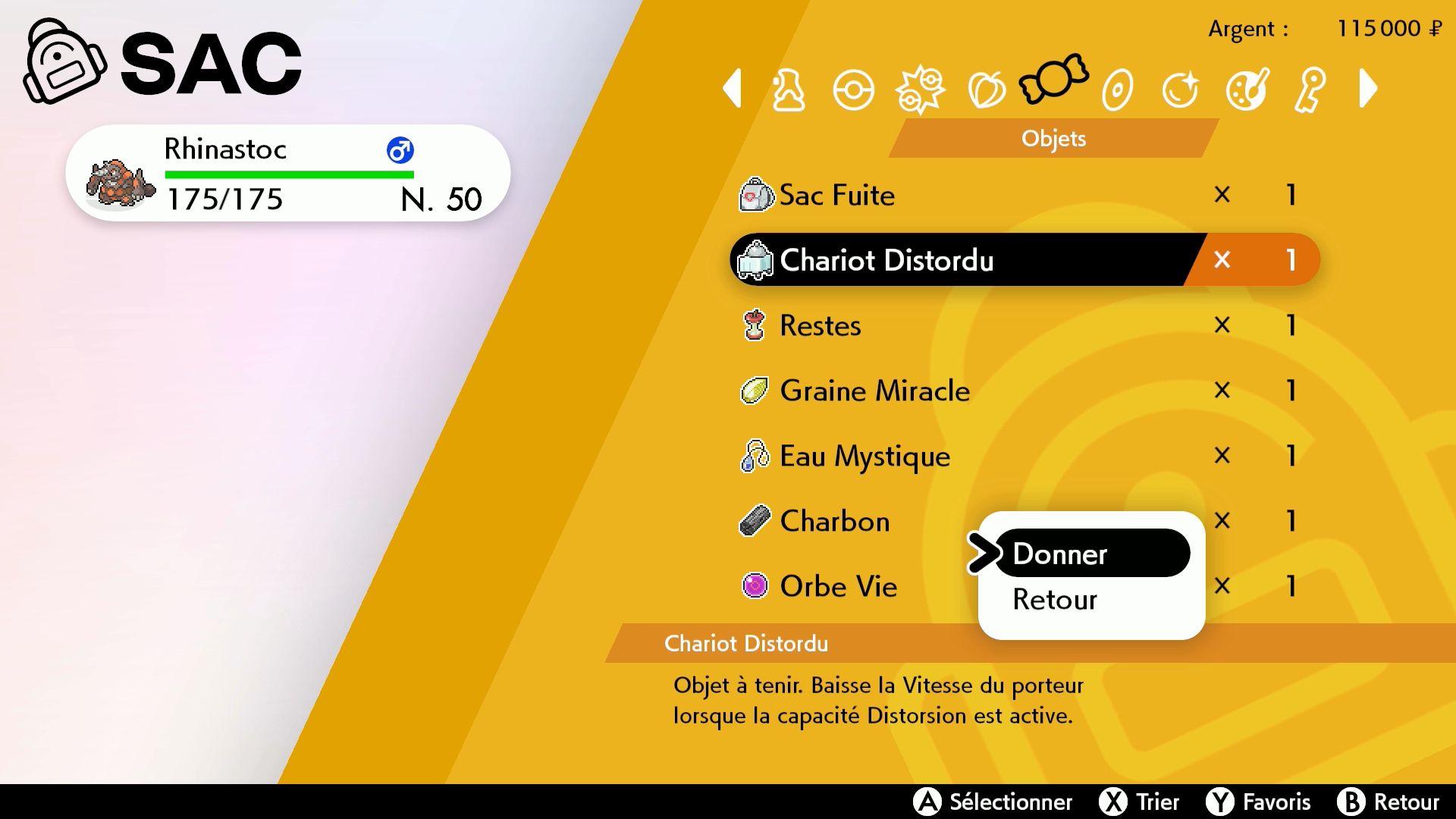 Chariot Distordu Pokémon Épée et Pokémon Bouclier