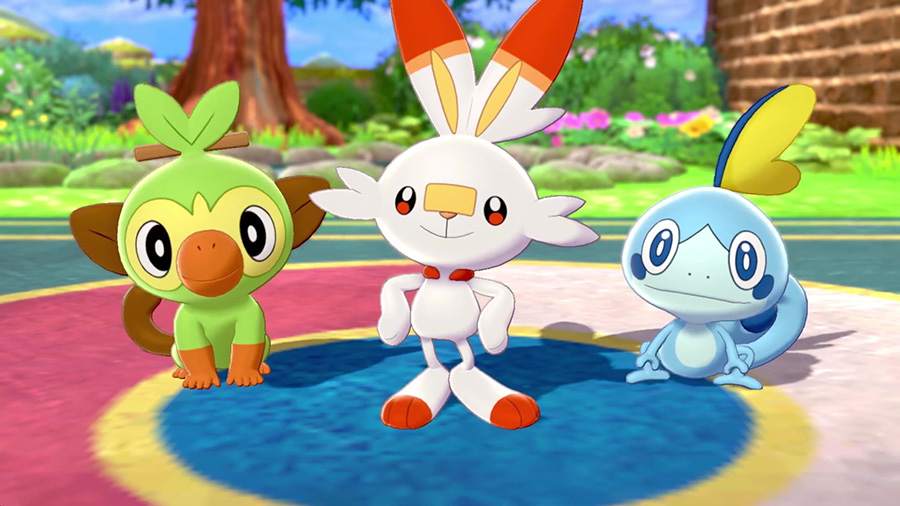 Starters Pokémon Épée et Bouclier