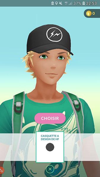 Pokémon Go - Nouvelle Casquette