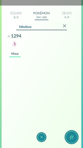 Screenshot Pokémon Go