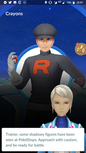 Pokémon GO : Invasion de la Team Rocket et Pokémon Obscurs / Purifiés disponibles