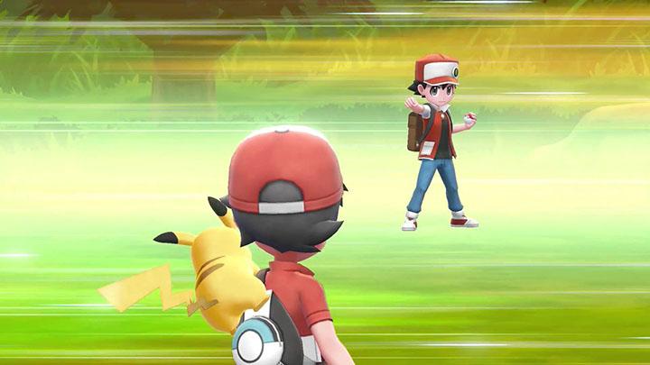 Red, Blue et Green de la partie Pokémon Let's Go Pikachu et Évoli