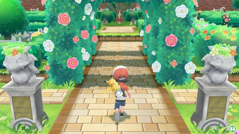 Érika Championne d'Arène de Céladopole Pokémon Let's Go Pikachu et Évoli