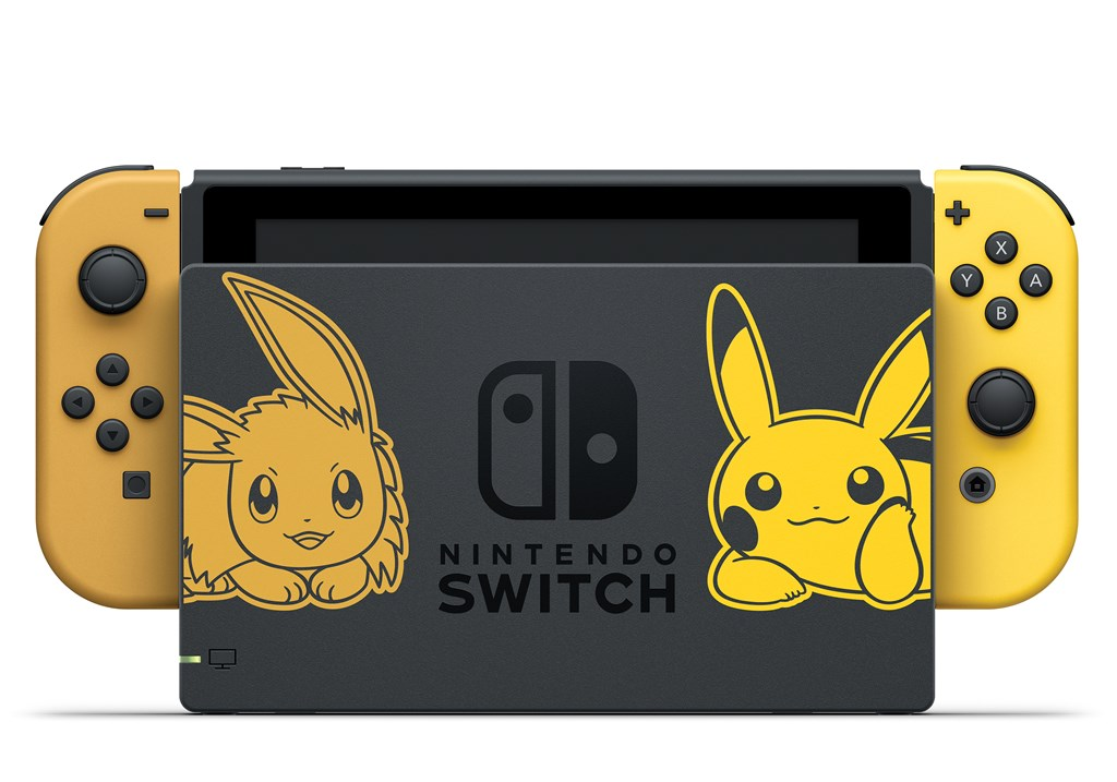Nintendo Switch spéciale Pokémon Let's Go Pikachu et Évoli