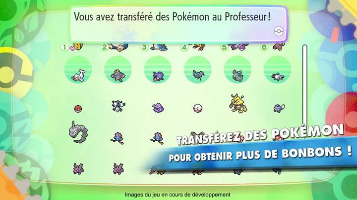 Bonbons sur Pokémon Let's Go Pikachu et Évoli