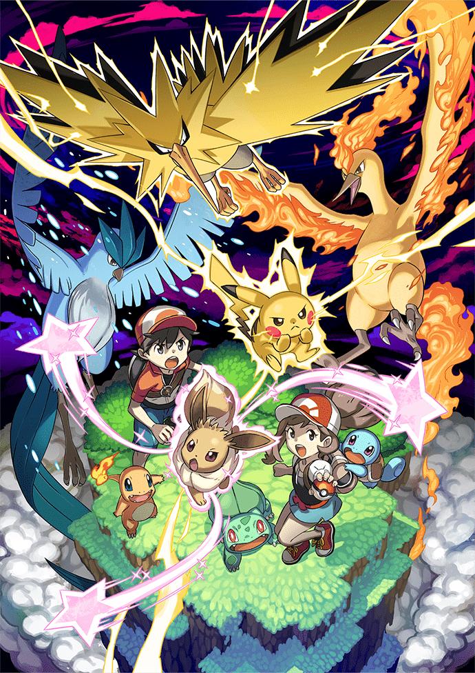 Héros et Pokémon Légendaires Pokémon Let's Go Pikachu et Évoli