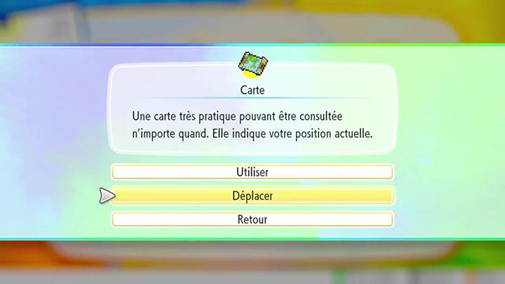 Sac et inventaire Pokémon Let's Go Pikachu et Évoli