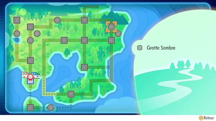 Grotte sombre Pokémon Let's Go Pikachu et Évoli