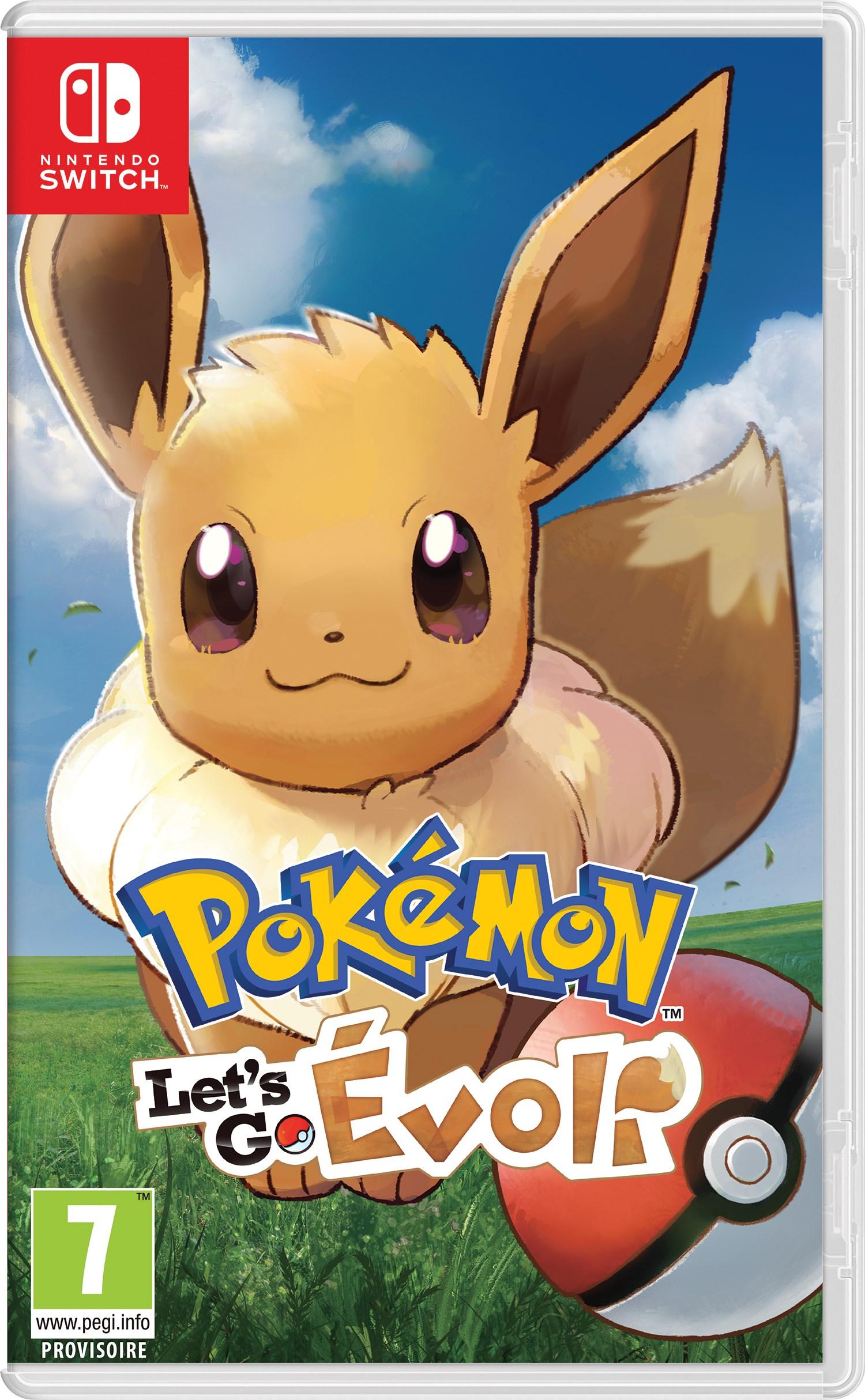 Boites des jeux Pokémon Let's Go Pikachu et Pokémon Let's Go Évoli