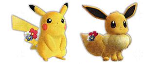Accessoire Fleur Rouge Let's Go Pikachu et Let's Go Évoli