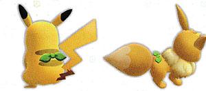 Accessoire Foulard Emeraude Let's Go Pikachu et Let's Go Évoli
