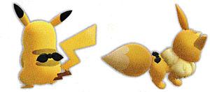Accessoire Foulard Noir Let's Go Pikachu et Let's Go Évoli