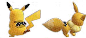 Accessoire Foulard à Pois Let's Go Pikachu et Let's Go Évoli