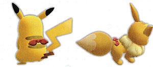Accessoire Foulard Rubis Let's Go Pikachu et Let's Go Évoli