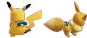 Accessoire Foulard Saphir Let's Go Pikachu et Let's Go Évoli