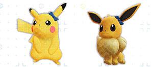 Accessoire Noeud Bleu Let's Go Pikachu et Let's Go Évoli