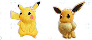 Accessoire Noeud à Carreaux Let's Go Pikachu et Let's Go Évoli